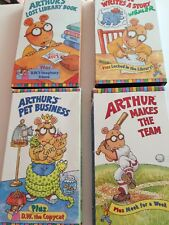 Lot Of 4 ARTHUR VHS Lost Library Book, Makes The Team,Writes Story, Pet Business