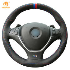 Leather Suede Steering Wheel Cover for BMW E70 X5 2008-13 E71 X6 2008-14 #BM128