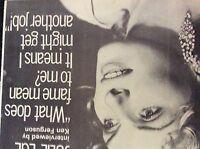 m9-9z ephemera 1970s film article julie ege and fame