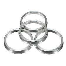 Aluminium Spigot Rings Set Of 4! 73.1 - 57.1 To Suit VW
