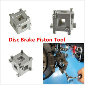 Carbon Steel 4 Wheel Disc Brake Caliper Piston Rewind/ Wind Back Cube Tool 3/8""