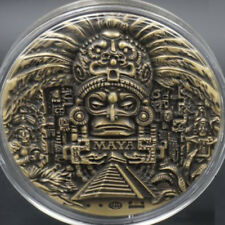 Big Maya Calendar Prophecy Anti-Bronze Plated Medal Badge Emblem Coin Collection