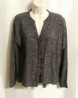 Old Navy Women's Black and White Polka Dot Button Up Blouse Size Medium
