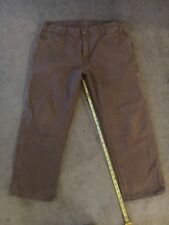 Mens DICKIES Jeans Size 40x30 work pants used brown very thick