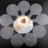 32*Coffee Schablonen Cappuccino Latte Stencils Streuer Barista Kakaostreuer 2*16