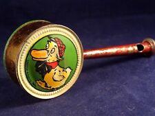 Ancien jouet hochet sifflet tôle Centola Roseto Italia caneton enfant 1920