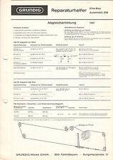 Grundig riparazione aiutante Elite-Boy Automatic 208 service manual istruzioni b1287