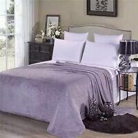 New Soft Warm Solid Warm Micro Plush Fleece Blanket Throw Rug Sofa Bedding WK