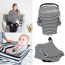 2in1 Nursing Scarf Cover Up Apron for Baby Car Seat Cover Canopy & Breastfeeding