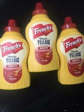 French's Spicy Cayenne Pepper Classic Yellow Mustard Sauce, Dressing (  3 Pack )