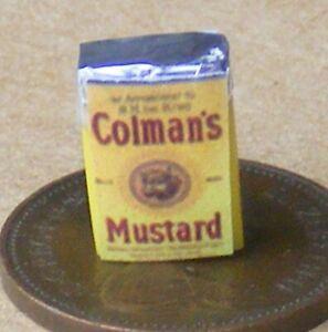 1:12 Scale Empty Colemans Mustard Powder Packet Tumdee Dolls House Kitchen Food