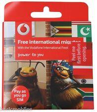 Vodafone Internacional Simcard estándar/micro/nanométrica Barato Llamadas Internacionales