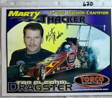 Signed Marty Thacker Torco Racing Fuels Dragster NHRA Photo Card N 620