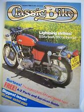 Classic Bike Magazine. No. 69. October, 1985. BSA's beefy 650 on the road.