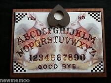 Wooden Ouija Board Bizarre Magick Alice in Wonderland & Planchette magic weeja