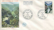 FRANCE FDC - 545 1438 1 GORGES DU TARN - 10 Juillet 1965 - LUXE