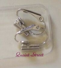Earring Converters post or fishhook to clips SILVER new