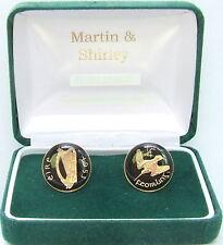 1953 IRLANDA Gemelli da vecchio IRLANDESE FARTHING monete nero oro