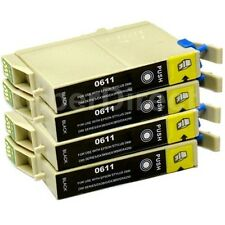 4 CiberDirect T0611 Ink Cartridges to fit Epson Printers - UK VAT Invoice