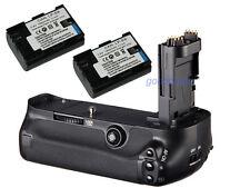 Battery Grip Holder for Canon 5D Mark III 5D3 5DIII Camera + 2x LP-E6 batteries