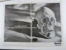 "retro magazine advert 1987 RAMSA wm-s10 22""x16"" double page"