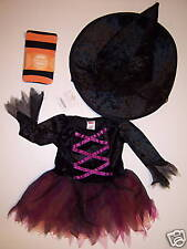 NWT Gymboree Witch Halloween Costume Hat & Tights 12-18 or 18-24 Months