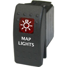 Rocker switch 718 red 12V MAP LIGHTS water marine boat LED RED