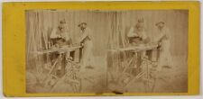 Menuisier Scène de genre Photo Stereo Th2n11 Vintage Albumine c1865