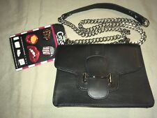 New CIRCUS SAM EDELMAN PHEOBE Customizable Black Crossbody Chain Handbag