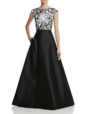 Aidan Mattox Lace-Bodice Two-Piece Gown Size 8