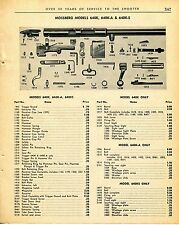 1965 Print Ad of Mossberg Model 640K A & S Rifle parts list