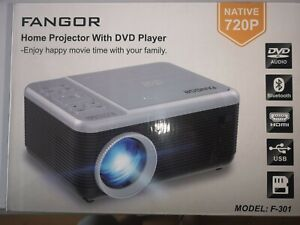 FANGOR Home Projector with integrated DVD Player
