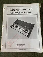 Vintage 1970's ARP AXXE Model 2300 Service Manual
