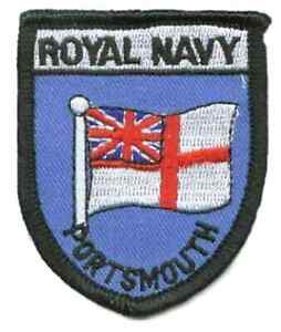 Royal Navy Portsmouth Flag World Embroidered Patch Badge