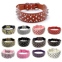 Pet Dog PU Leather Punk Rivet Spiked Studded Puppy Cat Collar Neck Strap Gift