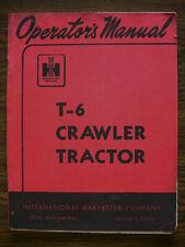 Ih Farmall Mccormick International T6 Crawler Owners Manual