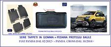 Tappetini Fiat Panda Cross 2014> Gomma Tappeti auto + Pedana Proteggi Baule