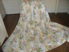 VINTAGE COTTAGE FLORAL CURTAINS SHABBY CHIC COUNTRY STYLE 100% COTTON