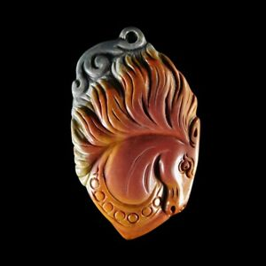Hand Carved Horse Pendant Bead GE900050