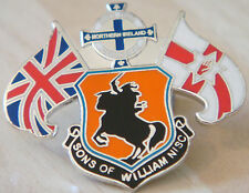 NORTHERN IRELAND SONS OF WILLIAM SUPPORTERS CLUB Badge Stud fitting 35mm x 29mm
