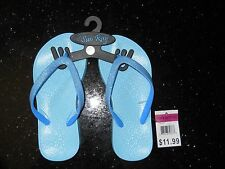 New ~ Girl's Blue Flip Flop ~👣~ Size S (11-12) ~ by Sun Ray ~ Msrp $11.99