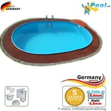 Einbaupool 4,50 x 3,00 x 1,50 m Einbaubecken Gartenpool Oval pool Ovalpool Pools