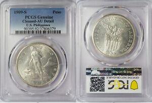 1909-S US/Philippines Peso ~ PCGS AU Details ~ 80% Silver ~ Allen#17.04 ~ 6379