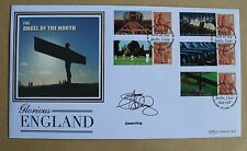 """Gloriosa Inghilterra 2007 BENHAM FDC firmata da TV """"Pelose Biker 'CHEF Simon King"""