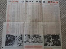 Vintage Scholastic Magazines Giant Asia Map and Facts Insert Civic Education '69