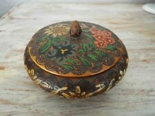 ~ Vintage Wooden Box with Lid great for Trinket Jewellery Items