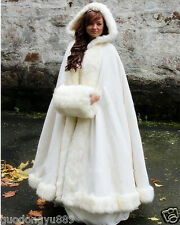 2019 Winter Bridal Cape Faux Fur Christmas Cloaks Jackets Hooded For Winter