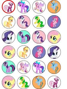 24 x My Little Pony Edible Icing Cupcake Toppers Kids Birthday UNCUT Image