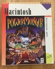 "Powermonger Macintosh 1994 2x3.5"" Floppy Disks Big Box"