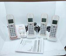 Panasonic KX-TGD560 Cordless Telephone Answering System w/ Bluetooth 4 Handsets